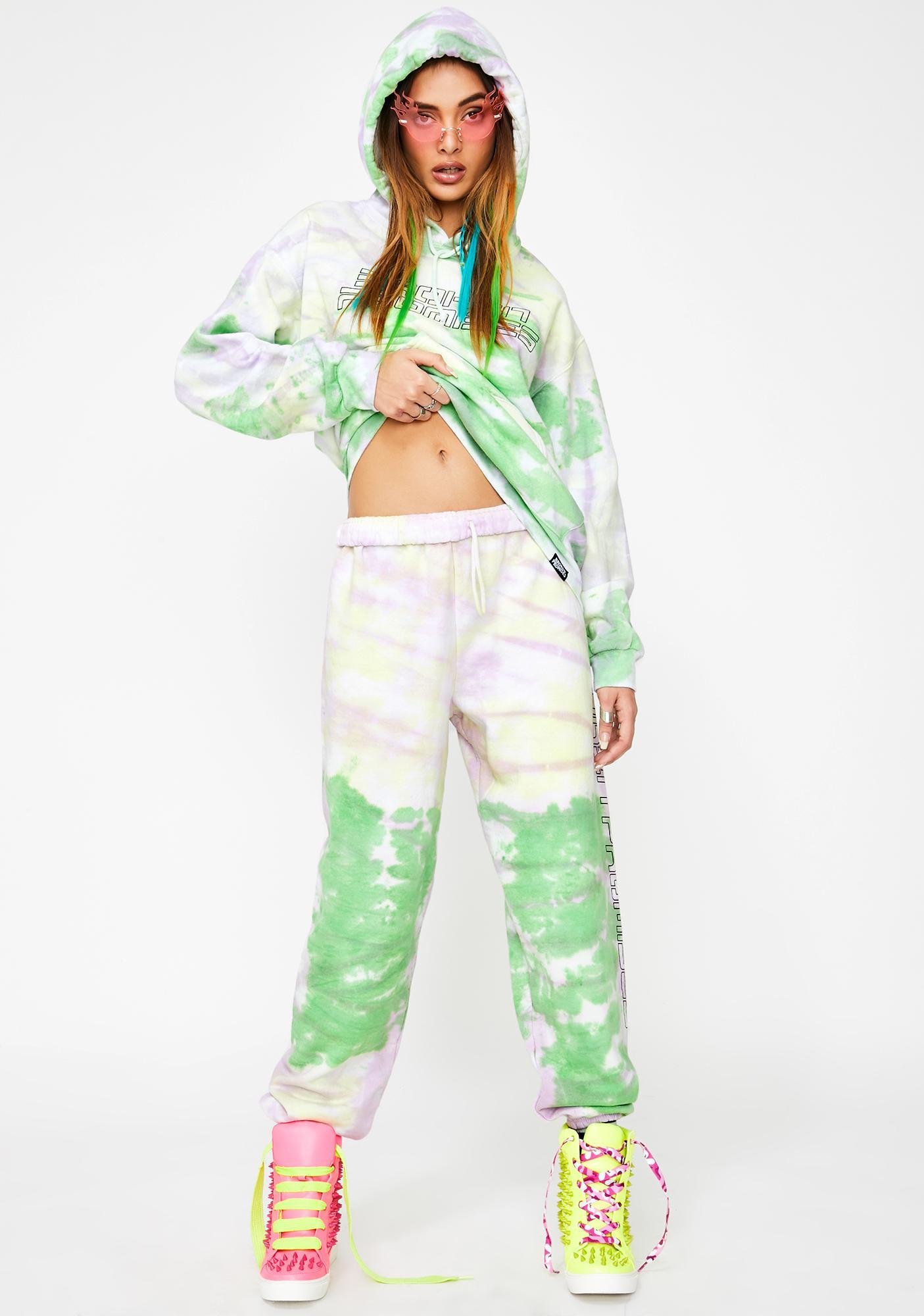 BROKEN PROMISES CO Spaced Out Tie Dye Sweatpants