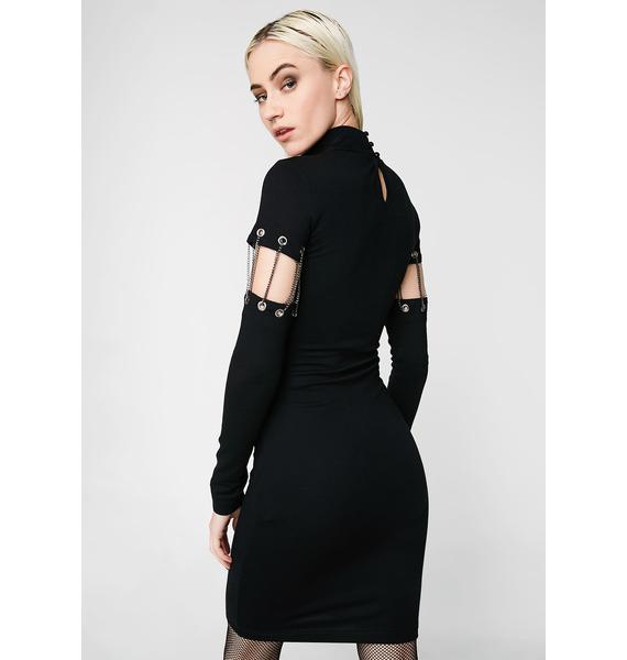 Kiki Riki Can't Chain Me Bodycon Dress