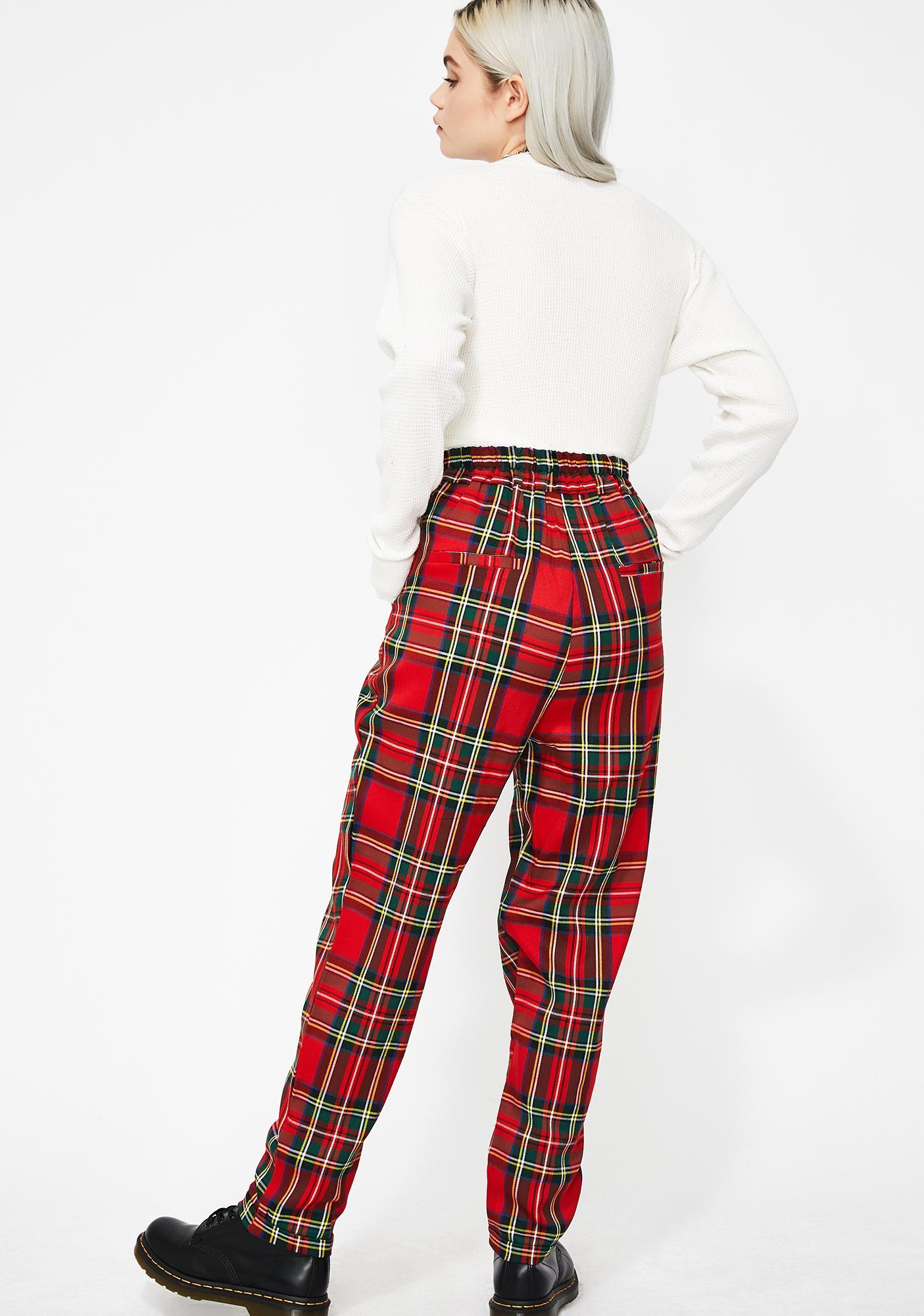 Rebel Instinct Plaid Pants