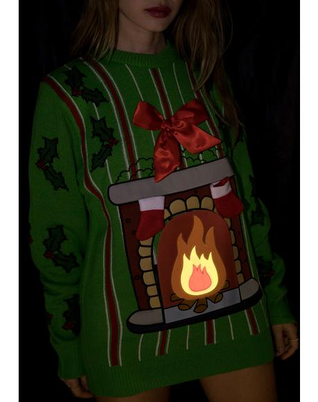 Deck My Halls LED Sweater