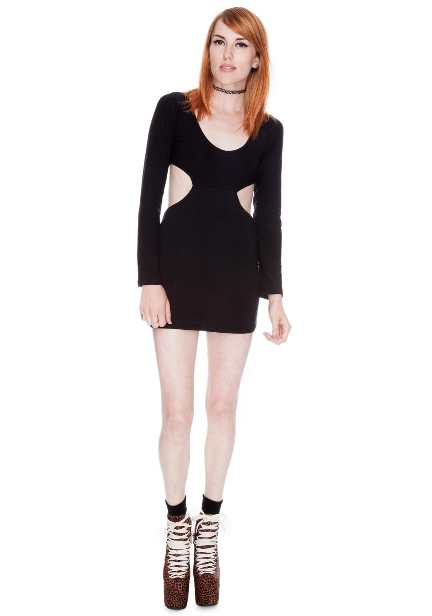 Our Prince of Peace Solid Black Sabbath Dress