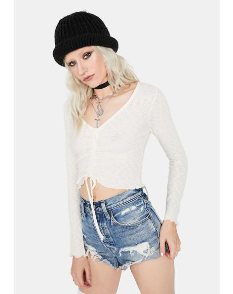 Wastin' Time Front Tie Crop Top