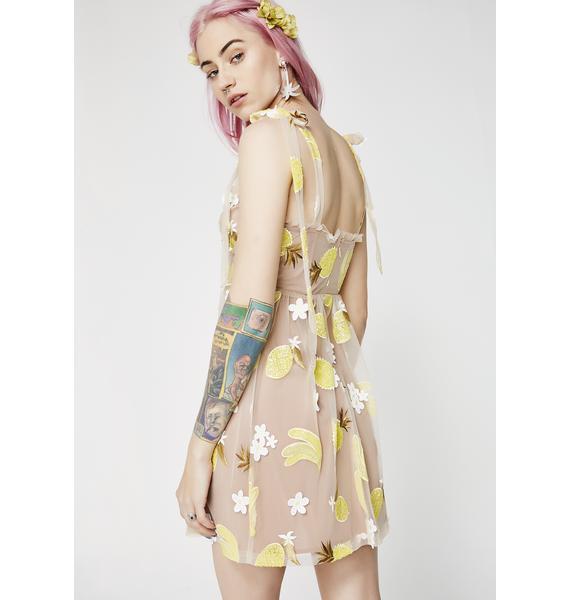 For Love & Lemons Fruitpunch Sequin Mini Dress
