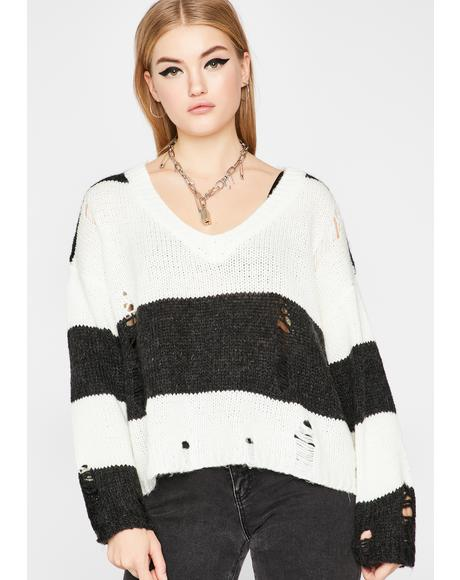 Troubled Rebel Knit Sweater