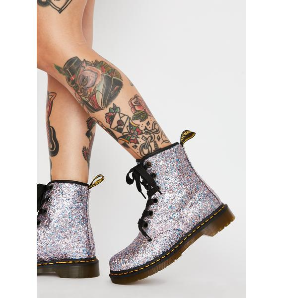 Dr. Martens Blue 1460 Farrah Glitter Boots