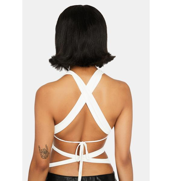 Model Mood Wrap Bra Top