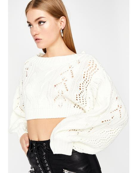 Pure Slay Season Crop Sweater