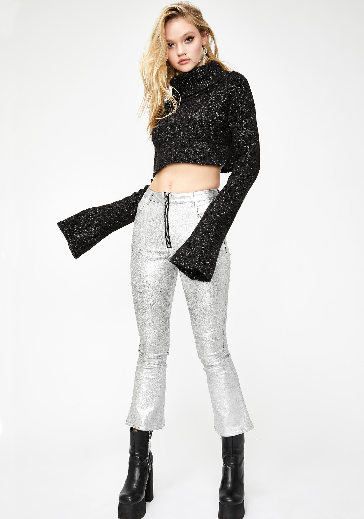 Current Mood Electric Charge Cropped Sweater