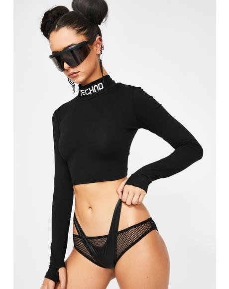 Techno Snob Mock Neck Top