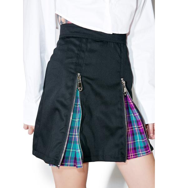 Morph8ne Zip-It Pleated Skirt