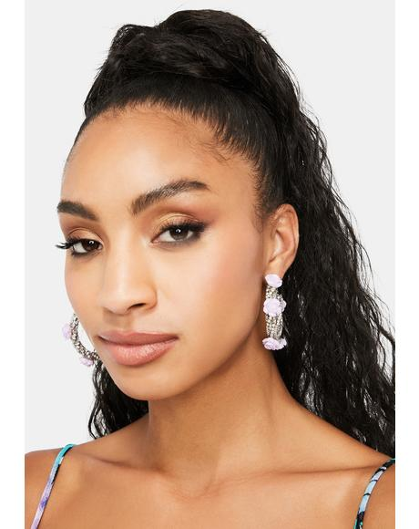 Blingin' Bouquet Hoop Earrings