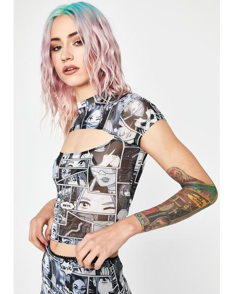 Misfit Memoirs Cut Out Top