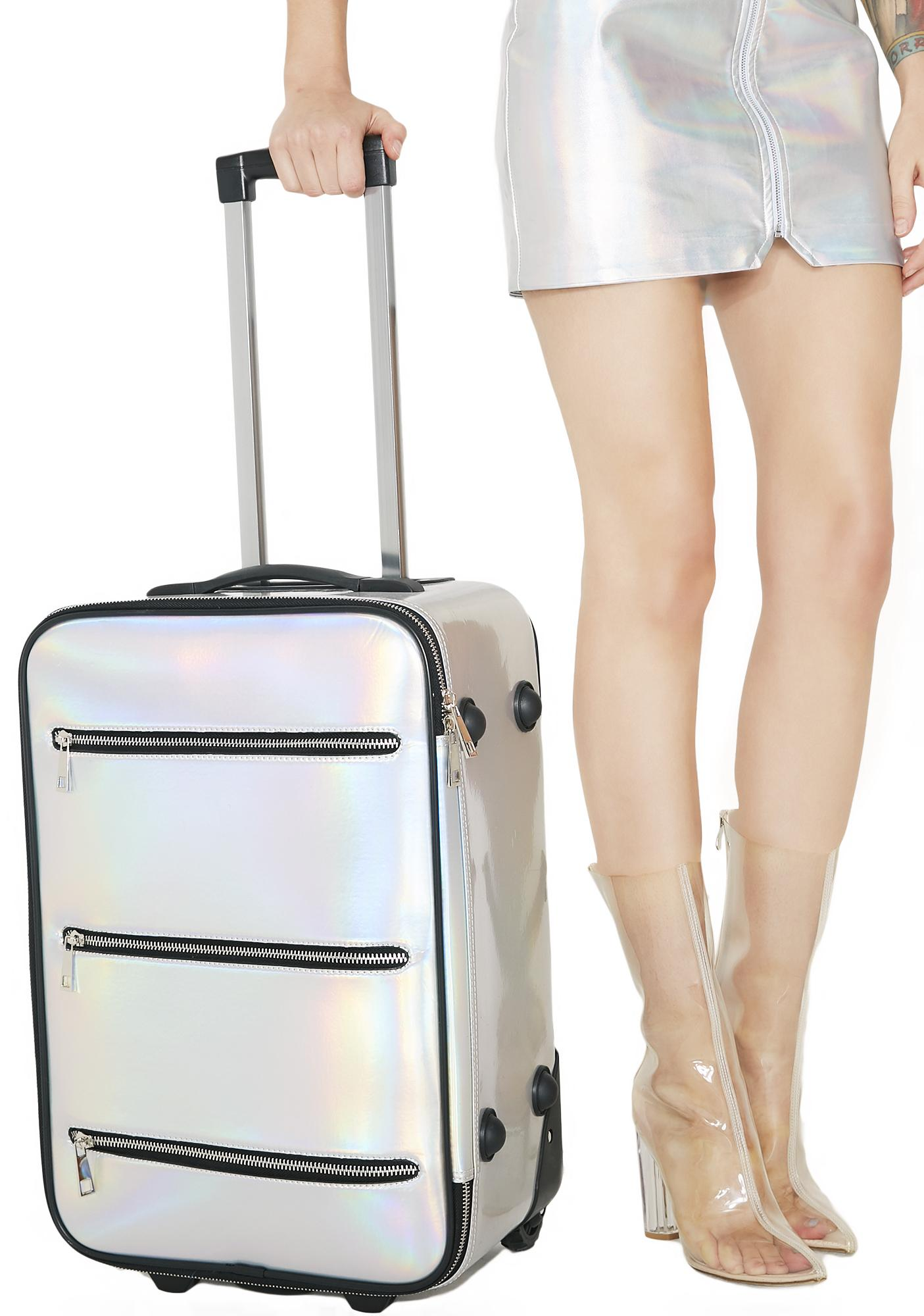 Current Mood Space Traveler Holographic Suitcase