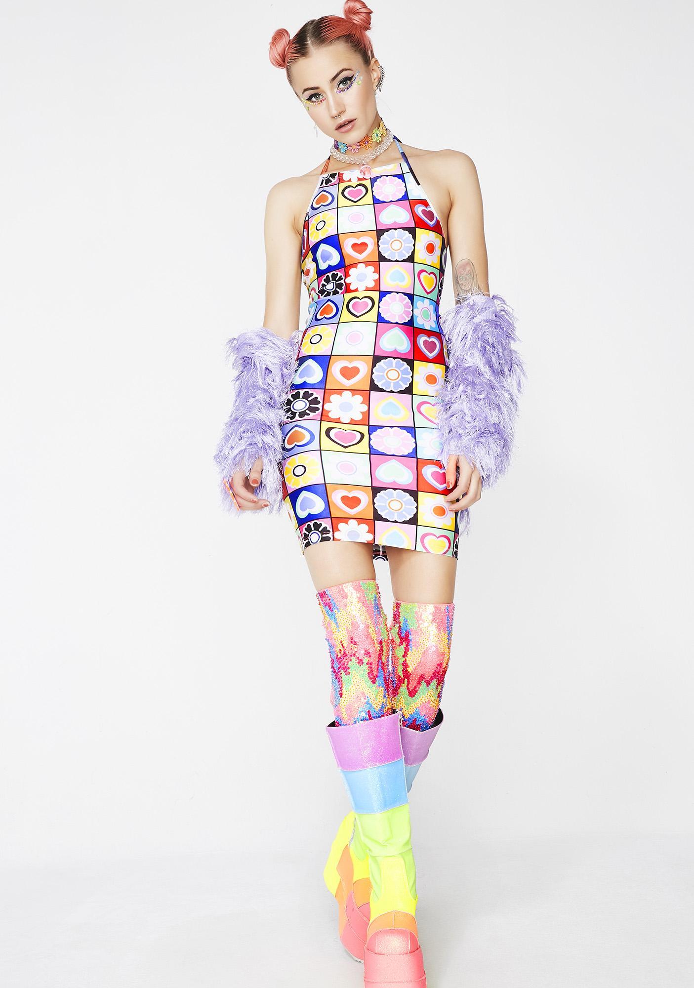 Jade Clark Retro Halter Dress