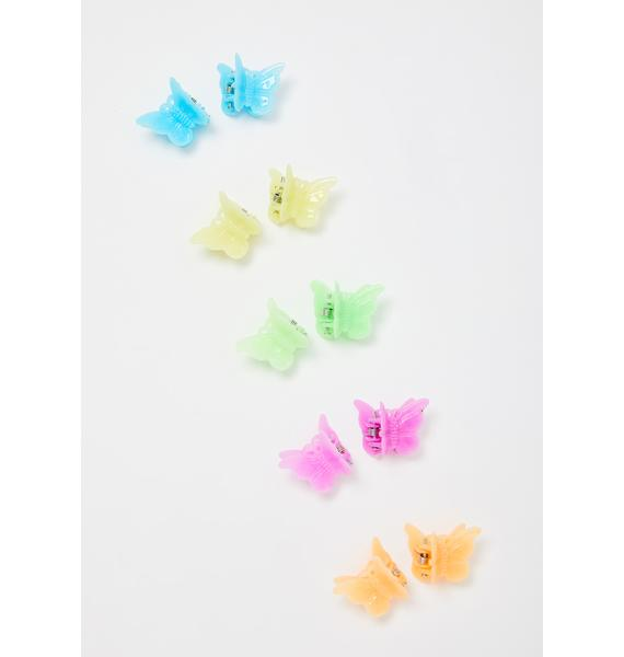 Fly Me Away Butterfly Hair Clips