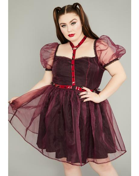 Wine Eternal Hell On Earth Harness Dress