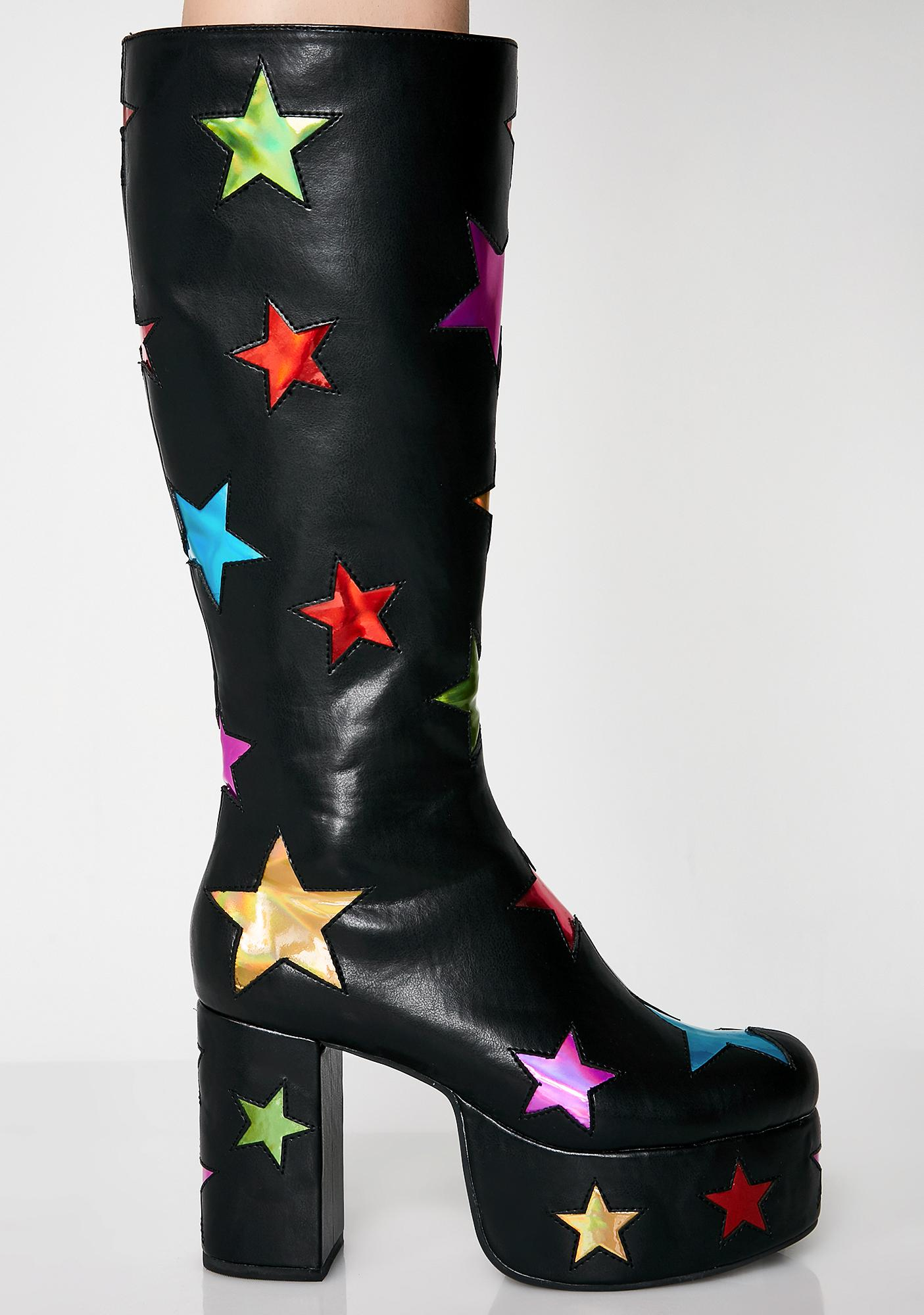 Current Mood Starscape Platform Boots