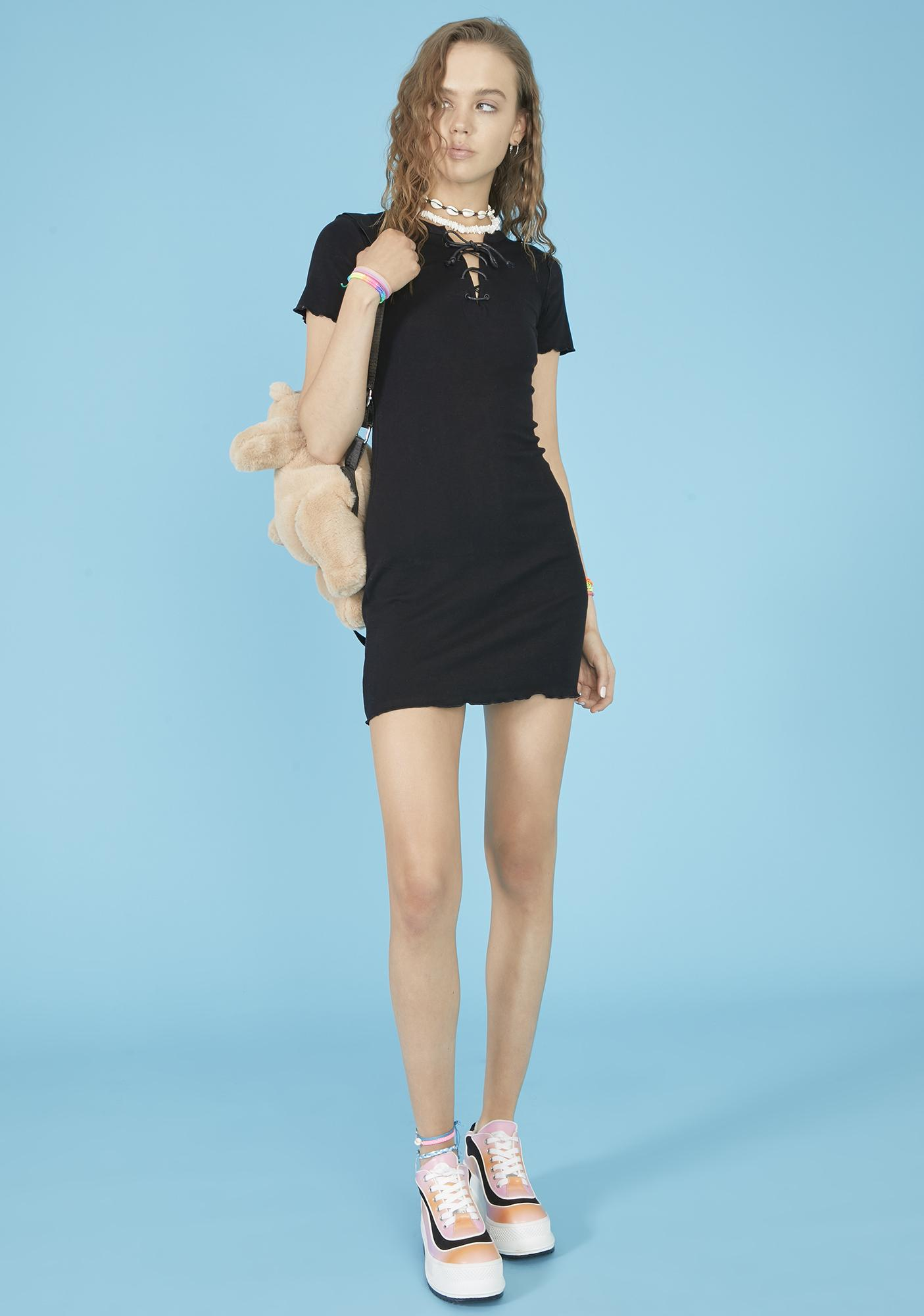 dELiA*s by Dolls Kill Run This Beach Lace Up Dress