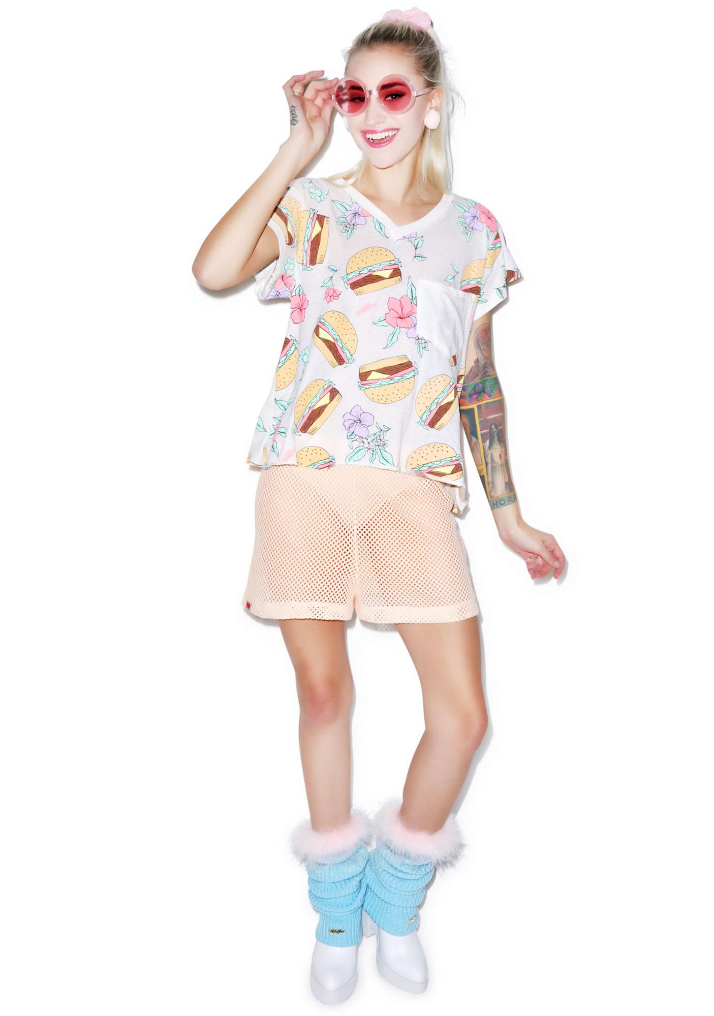 Wildfox Couture Hamburger Romeo Pocket V-Neck Tee