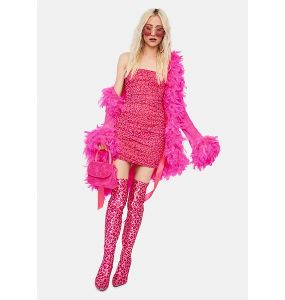 Sweet Party Animal Ruched Mini Dress