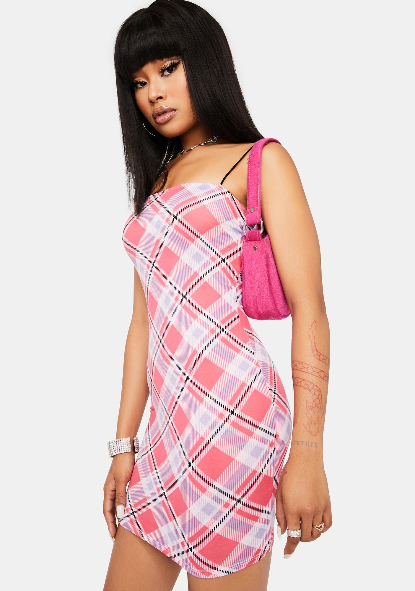 Pretty Rich Taste Plaid Mini Dress