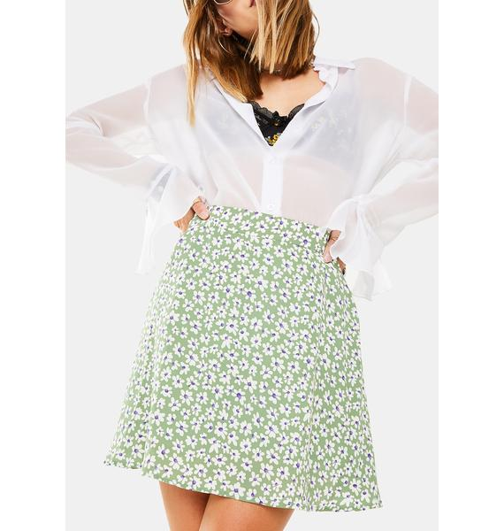 Dress Forum Floral Mini Skirt