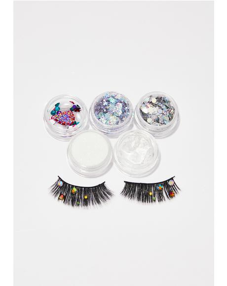 Gemstone Eyelash And Glitter Pack