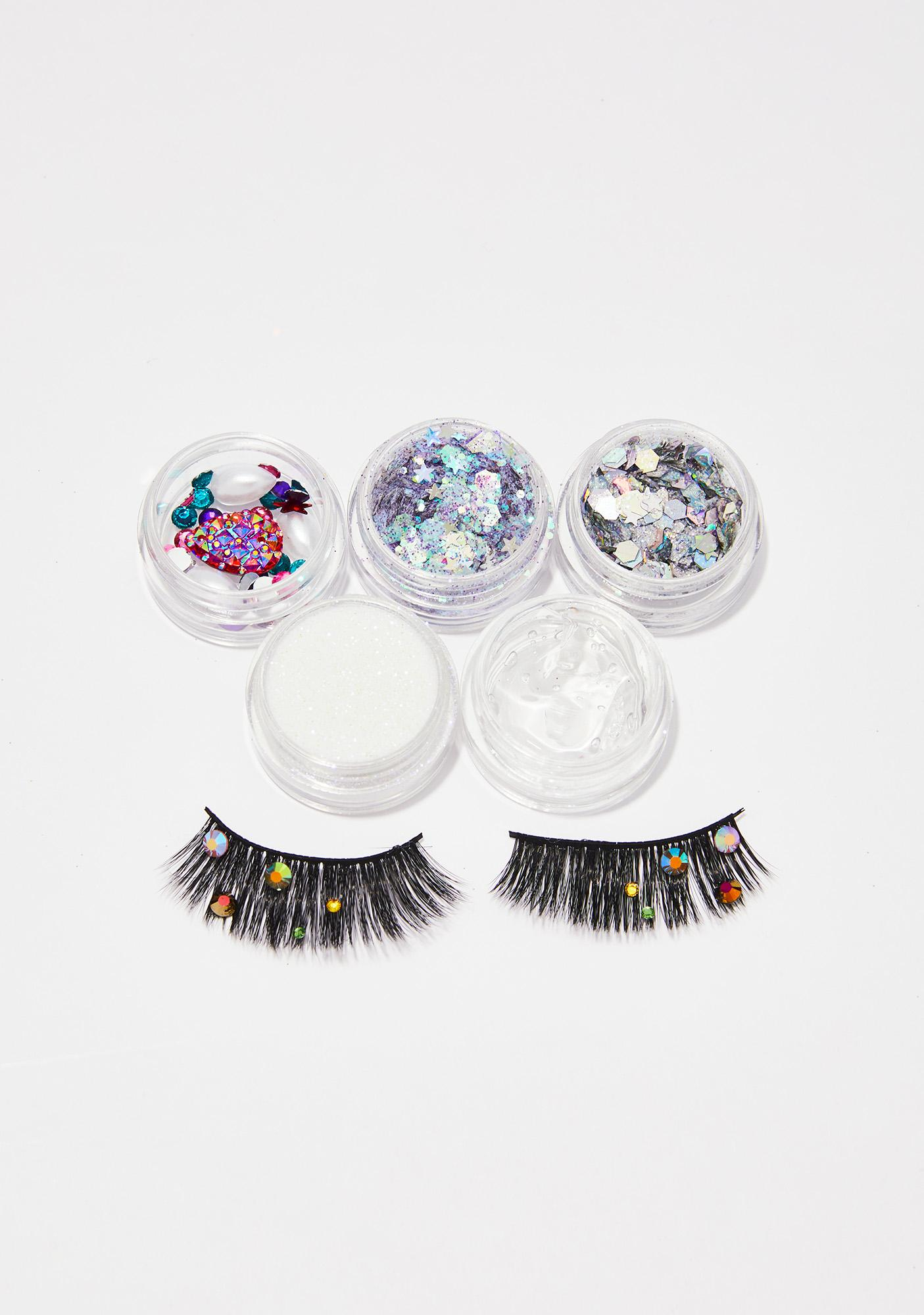 Gemstone Eyelash And Glitter Pack by From Nic Love