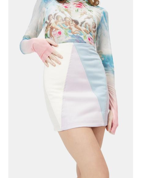 Heavenly Chic Colorblock Mini Skirt