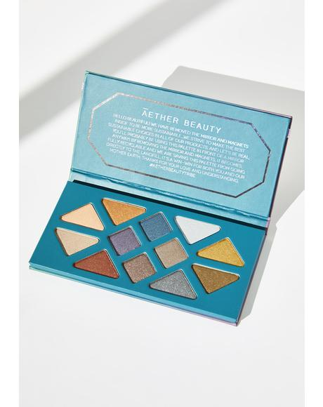 Crystal Grid Gemstone Charged Eyeshadow Palette