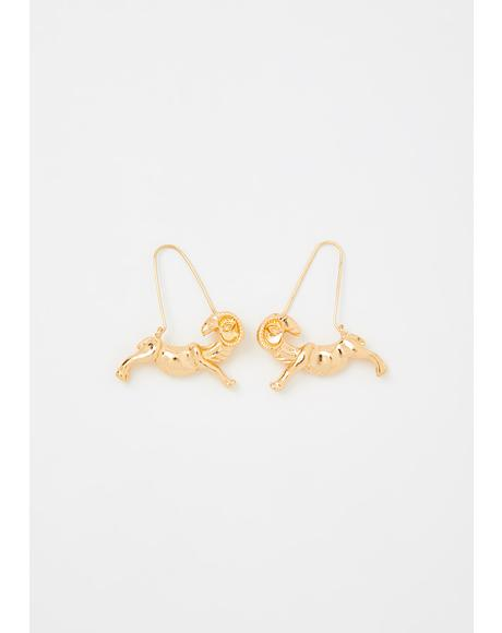 Adventurous Aries Drop Earrings