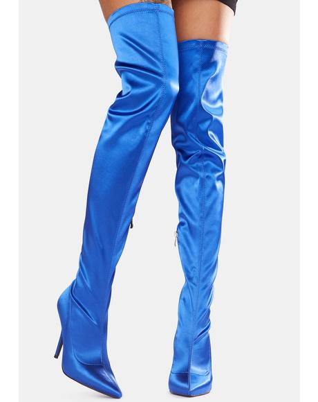Cosmo Satin Stiletto Boots