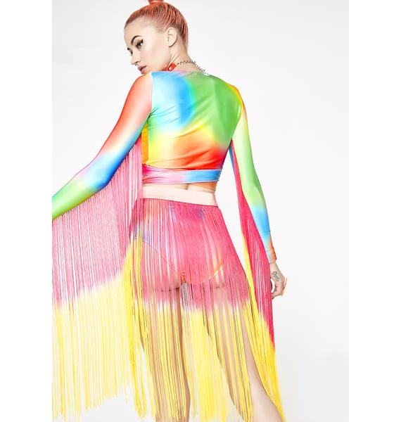 Club Exx Sunset Flow Moment Fringe Belt