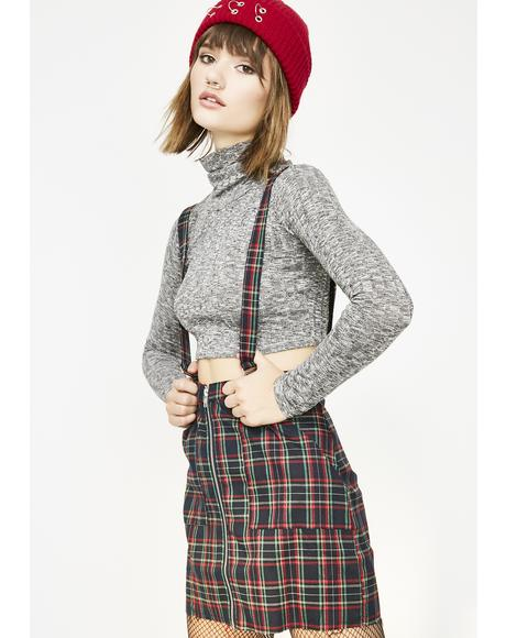 Live Fast Plaid Skirt