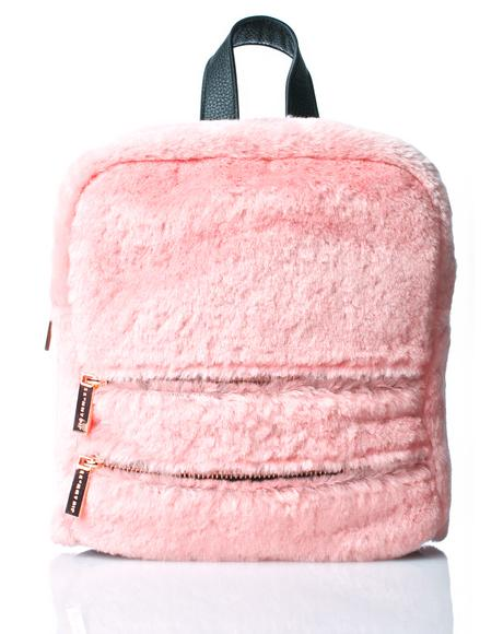 Molly Pink Fluff Backpack