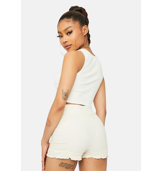Pure Too Blessed Ruched Frill Shorts