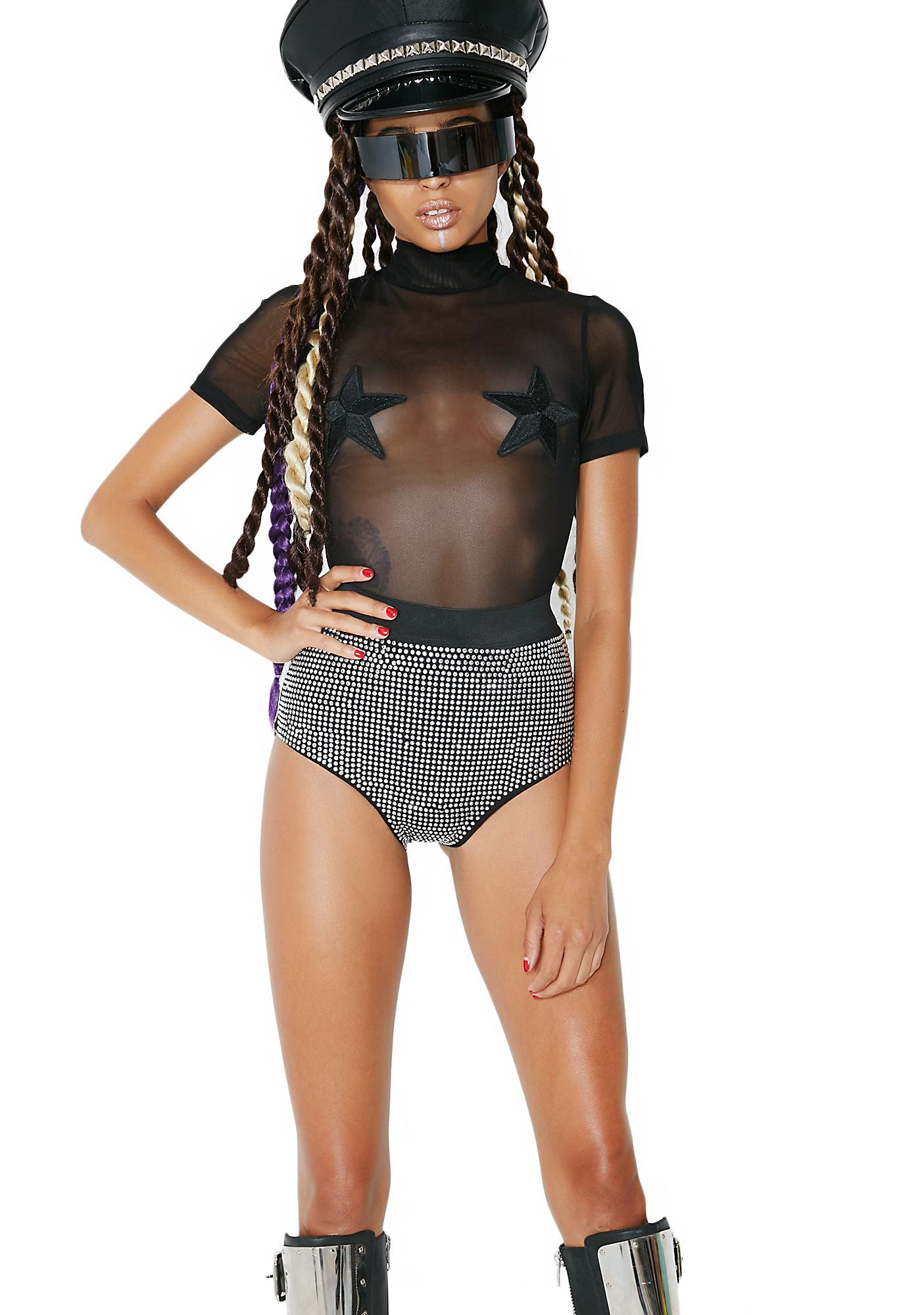 Kiki Riki Take Aim Studded Booty Shorts