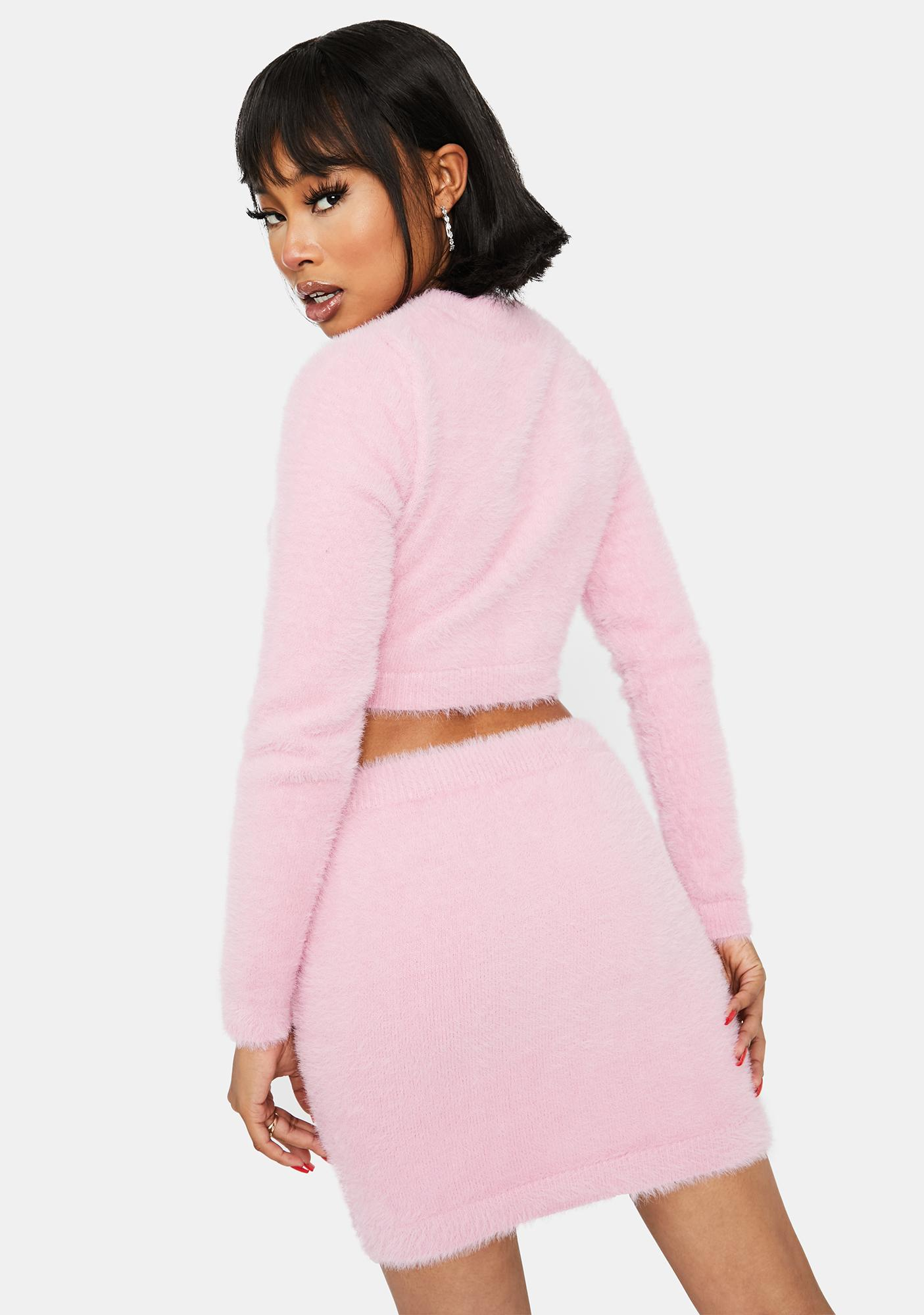 Bratty Confessions Fuzzy Skirt Set