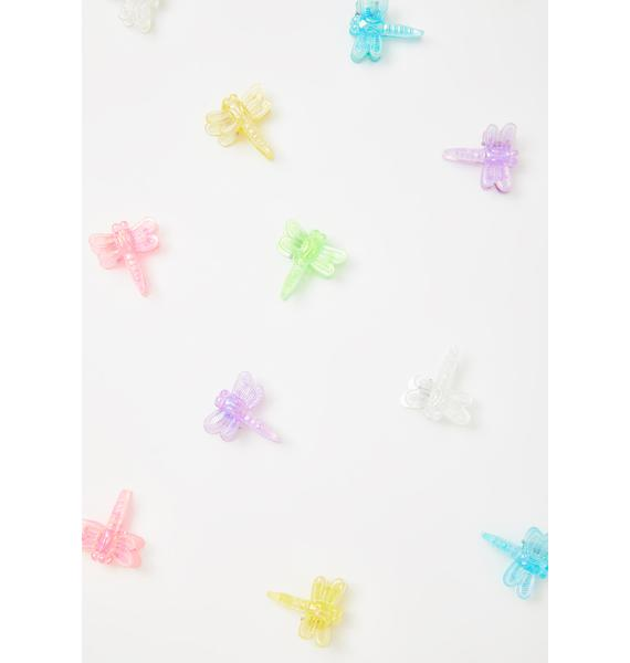 Good Times Eyewear Iridescent Dragonfly Hair Clips