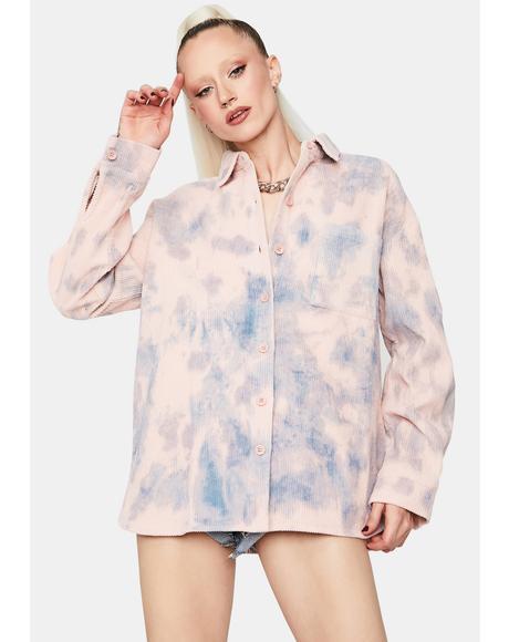 Beyond The Sun Tie Dye Button Up Shirt