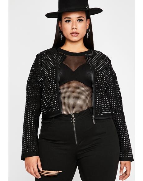Blackout My Guard Up Cropped Jacket