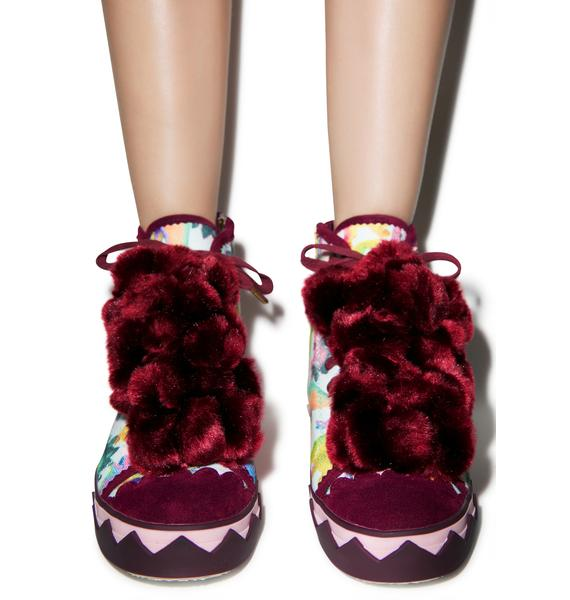 Irregular Choice Bow Ta Fly Trainers