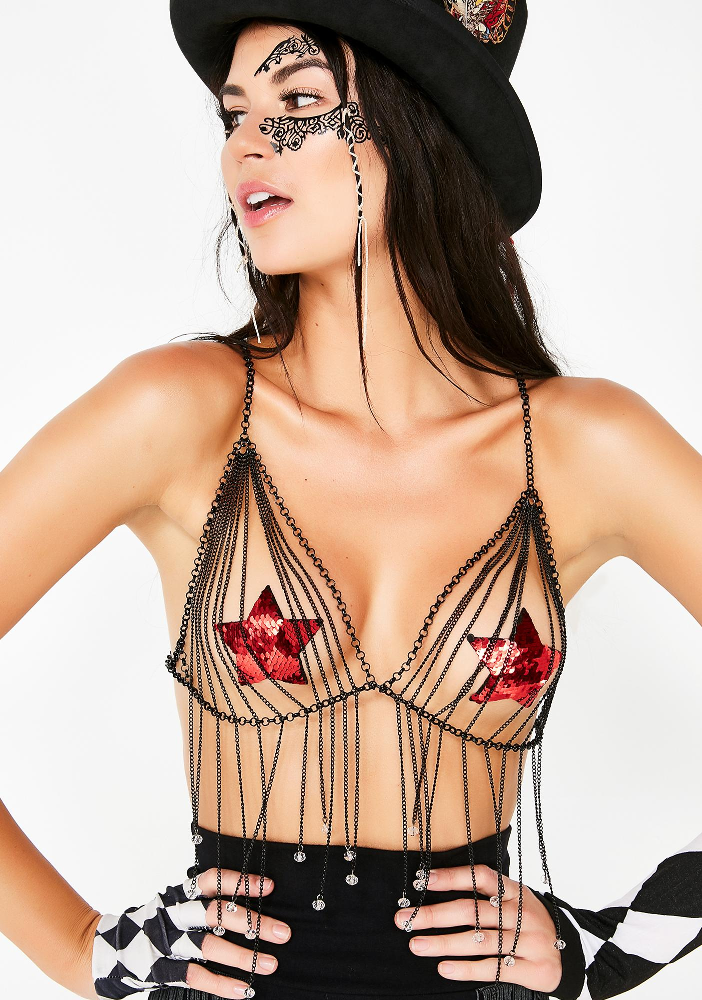 7900fb6ffa Midnight Chasin Waterfalls Chain Bralette by Nystyle