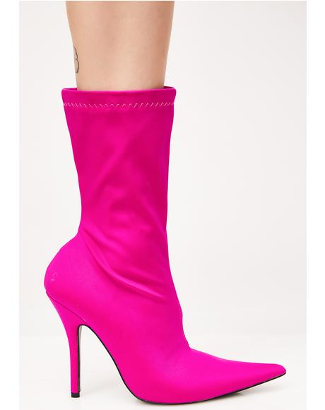 Danger Sock Fit Ankle Boots