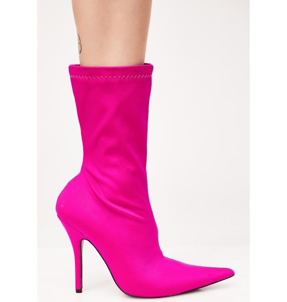 Public Desire Danger Sock Fit Ankle Boots