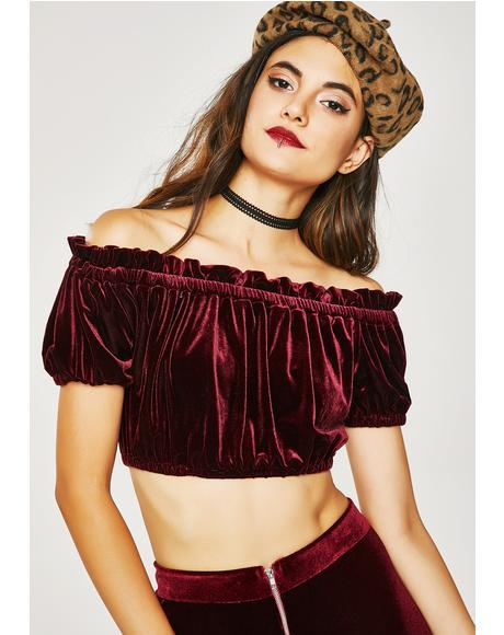 Teenage Dream Velvet Top