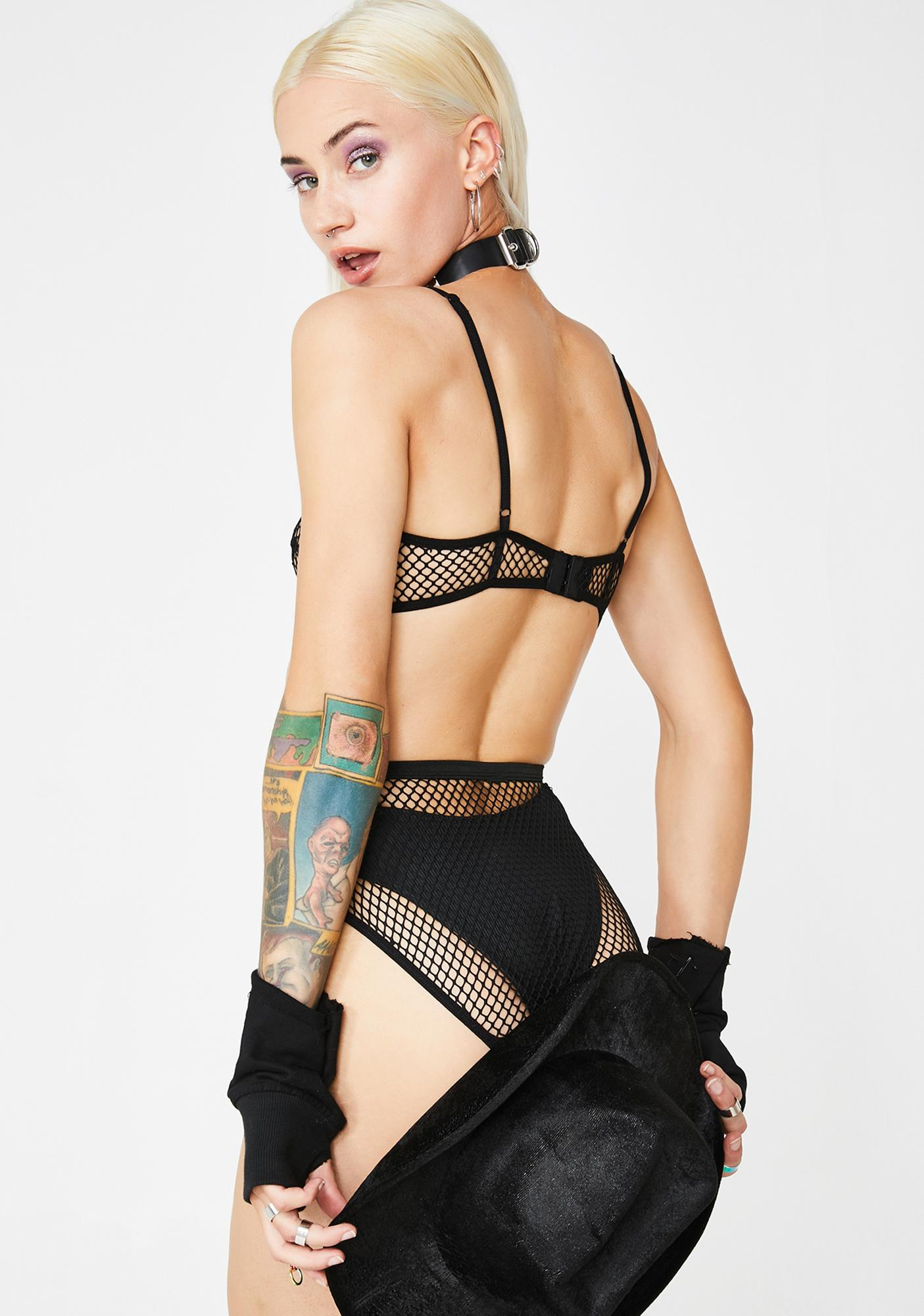 Forplay Start Me Up Fishnet Set