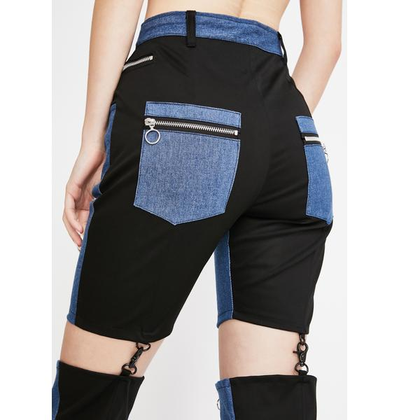 Strange Couture Ao Kuro Detachable Colorblock Jeans