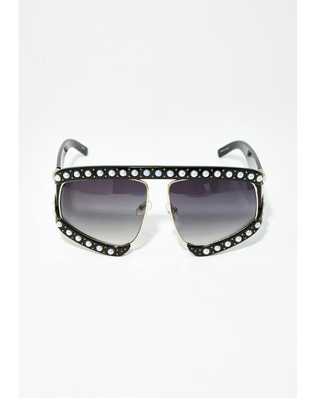 Drippin' To Death Shield Sunglasses