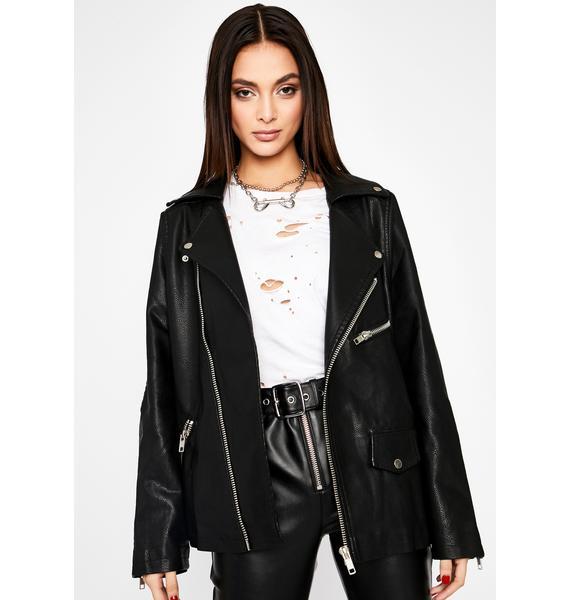 Wicked Bone To Pick Moto Jacket